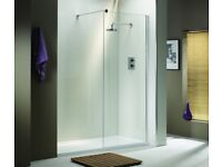 QX ASCENT DELUXE 900mm WETROOM SHOWER SCREEN / PANEL / WALL ASCWI33PSC RRP £398