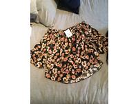 Topshop floral blouse size 6 brand new.