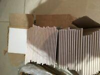 """Wickes Ceramic Wall Tiles White (6"""" x 6"""") 88 tiles"""