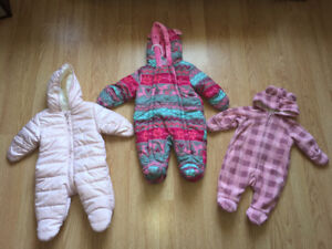 Baby girl 0-3 month snow suits