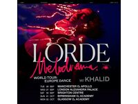 4x Lorde standing tickets, Alexandra Palace London, Wednesday 27th September 2017