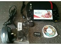 Psp complete console with 1 game1 DVD 32 mb memory card with cover case