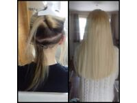 NANO RINGS EXTENSIONS, 100% RUSSIAN HAIR,MICRO RINGS,I-TIP,FLAT TAPE. SPECIALIST MOBILE HAIR STYLIST