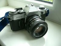 Canon AE-1 35mm SLR Film Camera with PENTACON 50mm lens
