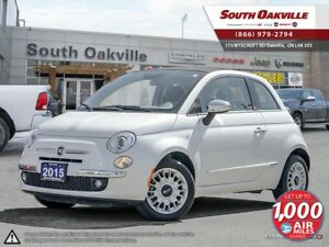 2015 FIAT 500c Lounge | BLUETOOTH | HEATED LEATHER | SIRIUSXM