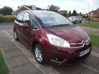2007 CITROEN C4 PICASSO EXCLUSIVE 1.6 HDI EGS DIESEL AUTO RED 12 MONTH M.O.T.