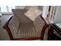 three seater sofa matching chair