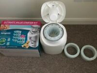 Tommee Tippee Sangenic nappy bin with 3 cassettes