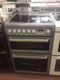 Silver Hotpoint Reconditioned 60cm Electric Cooker, Birmingham