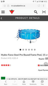 Abive ground Hydto force pool