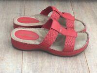 Hush Puppies Ladies Red Sandals