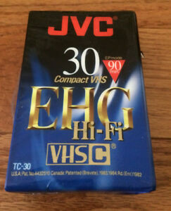 JVC Video Recorder EHG Hi-Fi Compact VHS Cassette Tape 90 Min TC