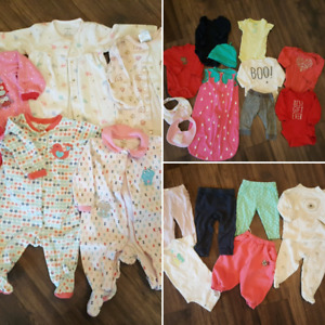 Lot of baby girl clothes 3-9 months 23 pieces