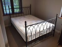 double bed complete with almost new mattress !