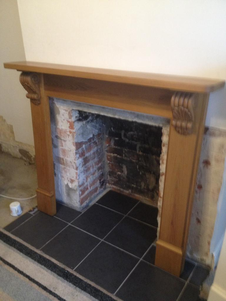 genuine edwardian fire surround solid wood in southampton