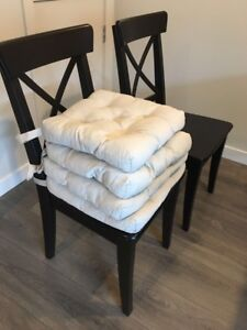 Four dinning chairs ( IKEA ) with cushions
