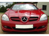 RED Mercedes SLK 350 V6 Automatic Tip Tronic 2005 (55) Extremely Eye-Catching Convertible