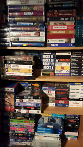Collection of rare collectible  VHS liquidation