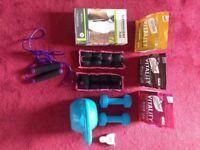 Weight Loss/Tone up Starter Pack - Slendertone, Kettlebell, Dumbbells, Skipping rope, Slimfast etc