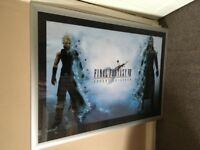 Final Fantasy VII Poster In Silver Frame Metal.