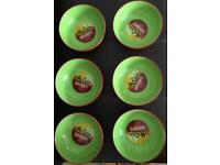 Six Collectable McCain Wedges Ceramic Serving Bowls