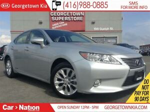 2013 Lexus ES 300h NAVI| LEATHER| ROOF| HYBRID| ONLY 27121| 1 OW