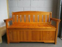 PINE SETTLE BENCH WITH LARGE STORAGE FREE DELIVERY