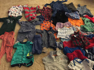 0-3 and 3-6 months Lots of Baby boy clothes in a great condition