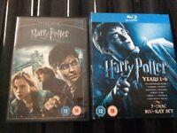 7 discs blu-ray Harry Potter years 1-6