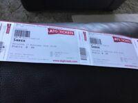 2 x shrek the musical tickets Birmingham Sat 17th Feb 2018