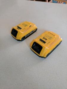 2 dewalt 20v batteries