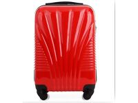 20inch cabin size red suitcases hard shell style