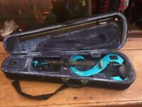STAGG electric violin - blue
