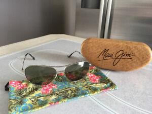 Maui Jim  Polarized Titanium aviator sunglasses