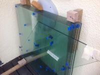 Glass and stainless steel balustrades