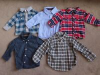 Bundle boys designer shirts 0-18m