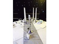 12 x Silver Candelabras for sale WEDDING