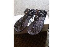 Womens snake skin sandals