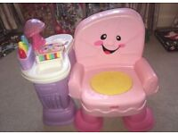 Fisher price pink chair