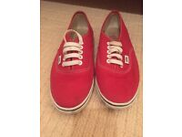 Woman's red vans size 5