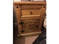 Corona Mexican distressed pine bedside unit