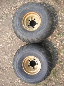 2 ATV tires with rims