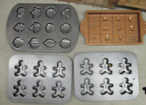 ASSORTED QUALITY COOKIE SHEETS - 1 COPPER