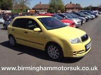 2004 (54 Reg) Skoda Fabia 1.9 TDI VRS PD 130PS 5DR Hatchback YELLOW + LOW MILES
