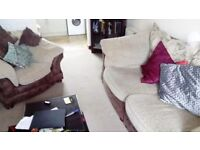 3 seater sofa with chair
