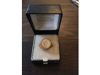 Vintage 9ct Yellow Gold 1853 ONE TALLAR COIN RING 5 grams - Size G / 3.5