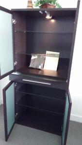 Bjursta display cabinet & Glider rocking chair