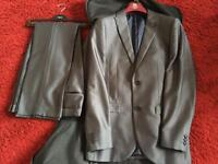 Gents grey next suit 38R jacket 32R trousers