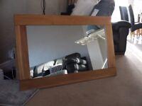 """Wooden frame mirror 43x28"""""""