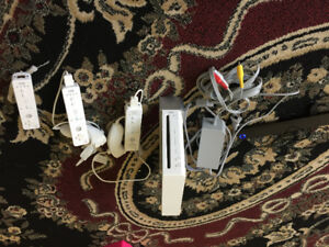 Complete set of wii game console